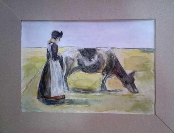 Aida Gevorgyan. girl with cow - photo 1