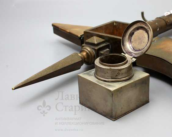 "Table-top device with ink and thermometer ""Hatchet"", Europe - photo 7"
