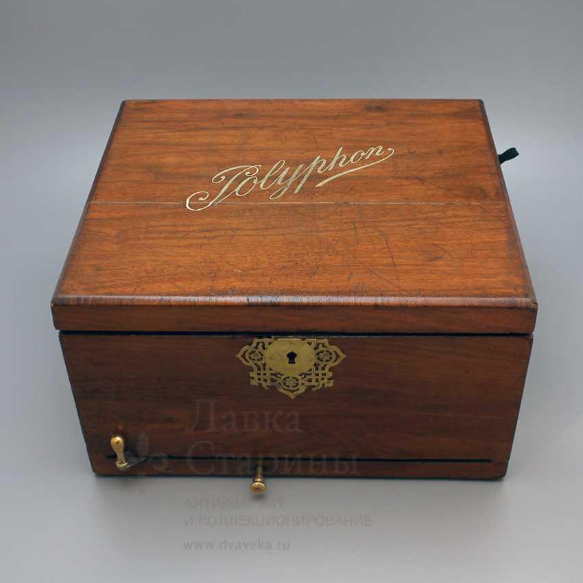 "Antique music box ""Polyphone"", Europe, con. 19th century - photo 6"