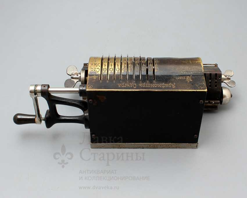 """Vintage calculator """"adding machine"""", Mechanical plant V. T. Ornery, St. Petersburg, early 20th century - photo 2"""