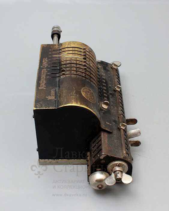 """Vintage calculator """"adding machine"""", Mechanical plant V. T. Ornery, St. Petersburg, early 20th century - photo 3"""