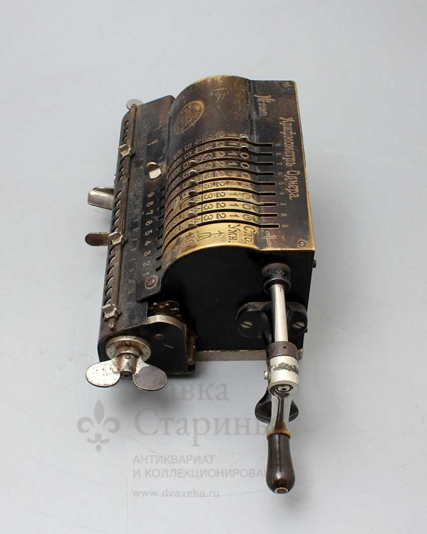 """Vintage calculator """"adding machine"""", Mechanical plant V. T. Ornery, St. Petersburg, early 20th century - photo 1"""