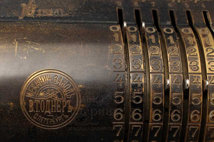 """Vintage calculator """"adding machine"""", Mechanical plant V. T. Ornery, St. Petersburg, early 20th century - photo 8"""