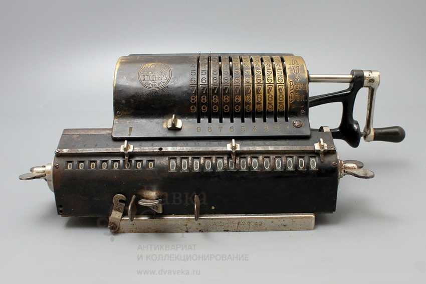 """Vintage calculator """"adding machine"""", Mechanical plant V. T. Ornery, St. Petersburg, early 20th century - photo 4"""