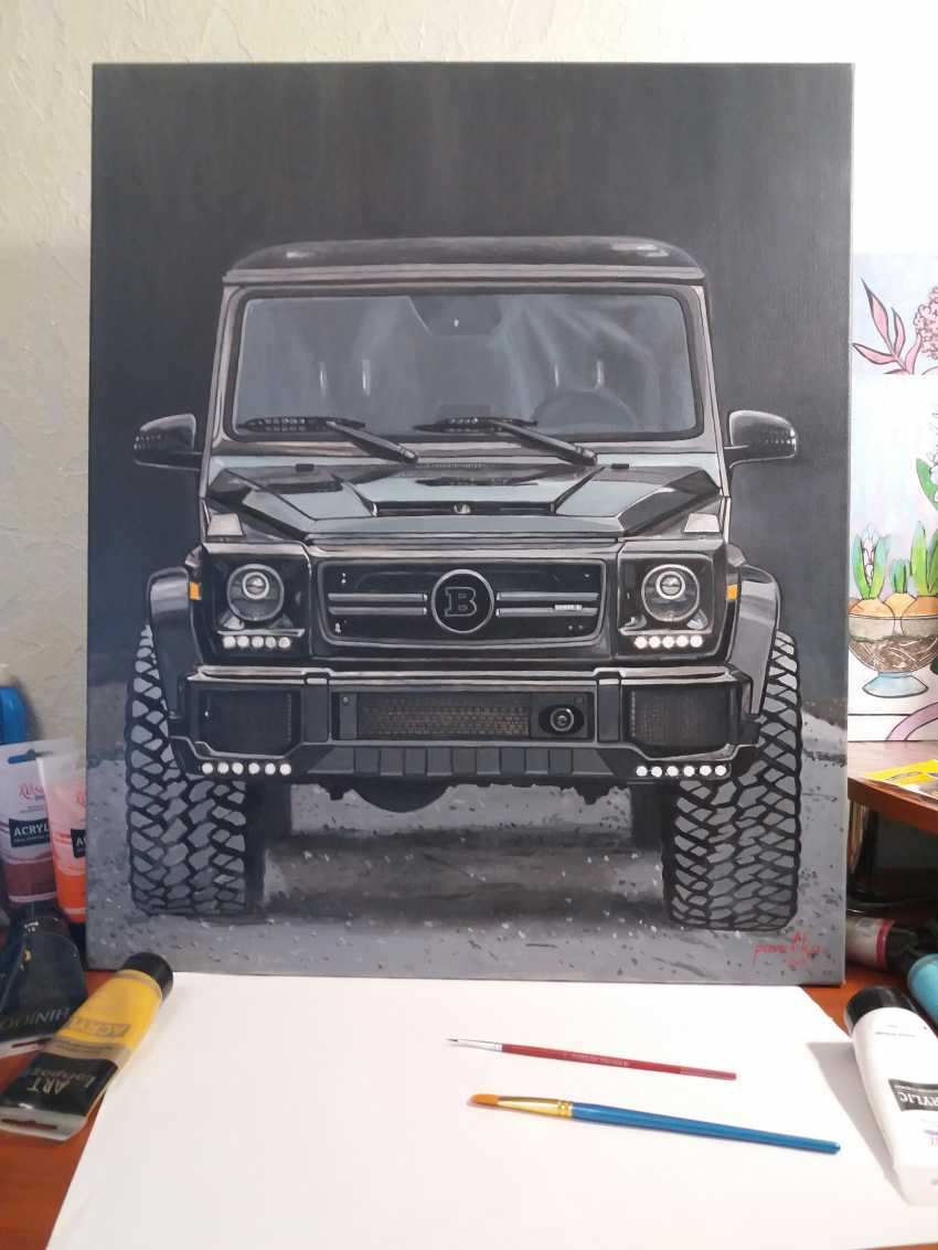 Katerina Pavelko. Original painting acrylic with Mercedes BRABUS - photo 2