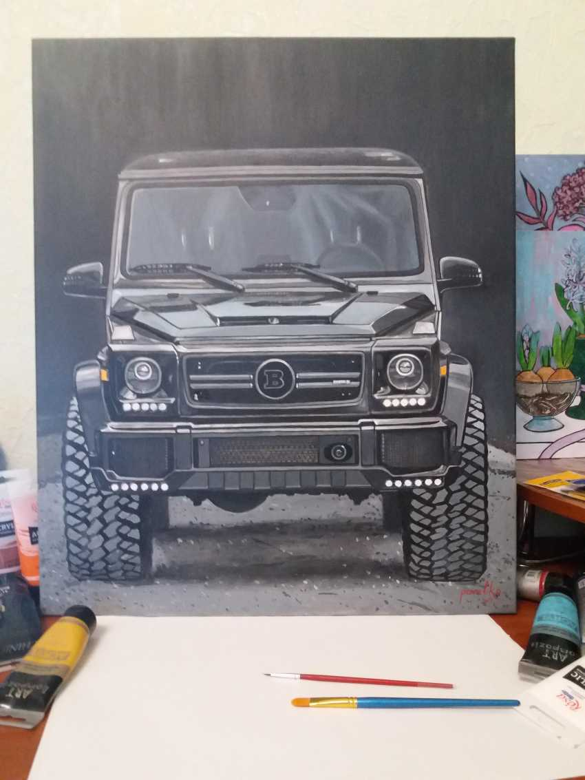 Katerina Pavelko. Original painting acrylic with Mercedes BRABUS - photo 3