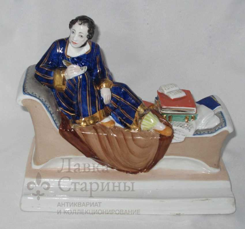 "Porcelain inkwell ""A. S. Pushkin at work"", LFZ, sculptor N. Danko. Ya - photo 1"