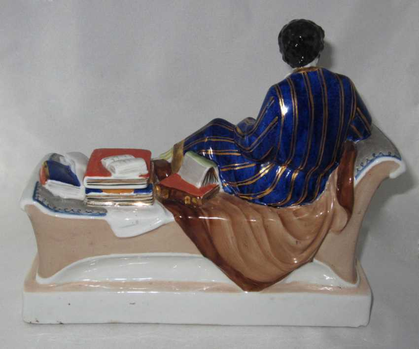 "Porcelain inkwell ""A. S. Pushkin at work"", LFZ, sculptor N. Danko. Ya - photo 2"