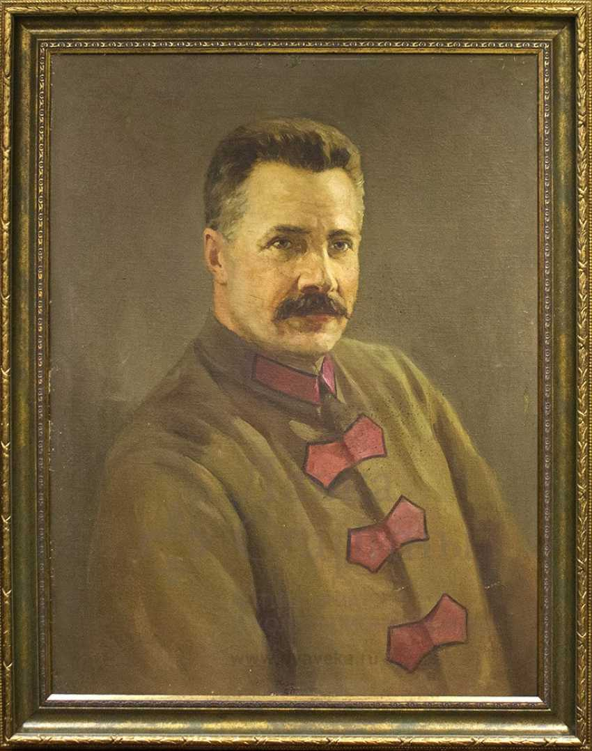 """Portrait of Mikhail Frunze"", Soviet painting, oil on canvas - photo 1"