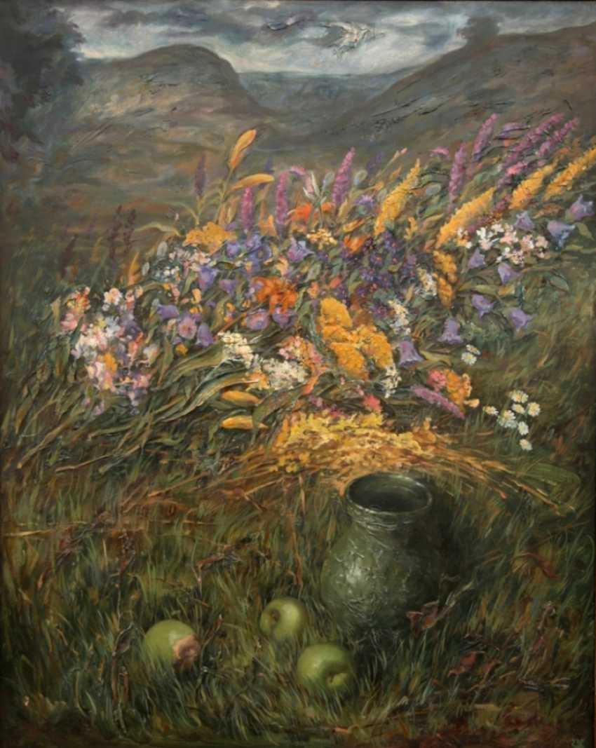 Sergey Karpukhin. Blumenstrauß im Gras - Foto 1