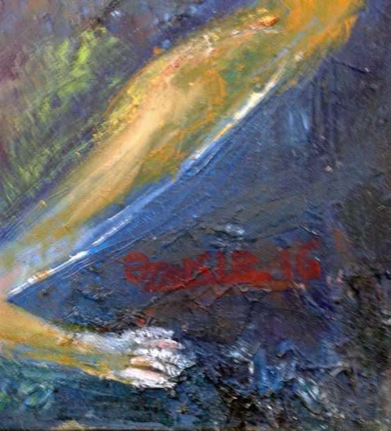 ZAKIR AHMEDOV. Youth 2013year 50x70 cm Original Painting Oil on Canvas - photo 2