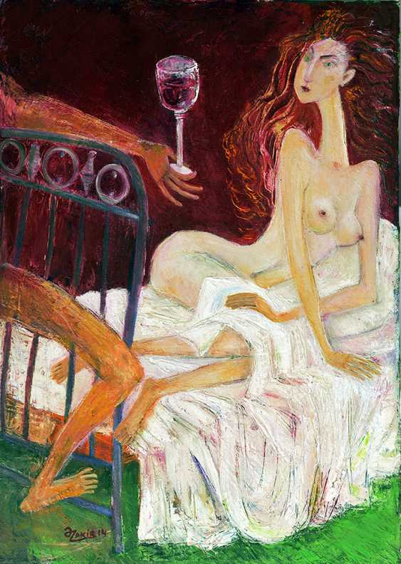 ZAKIR AHMEDOV. IN BED 2013year oil on canvas 50x70 cm4000$ - photo 1