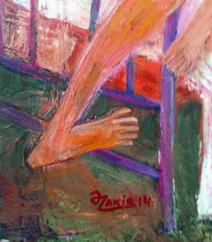 ZAKIR AHMEDOV. IN BED 2013year oil on canvas 50x70 cm4000$ - photo 2