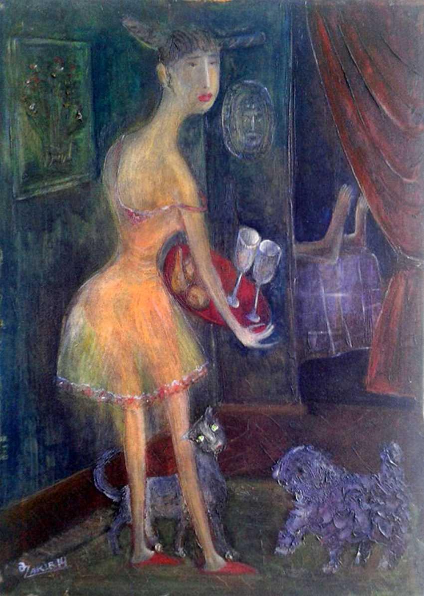ZAKIR AHMEDOV. MEETIINC2013year oil on canvas 50x70 cm3500$ - photo 1