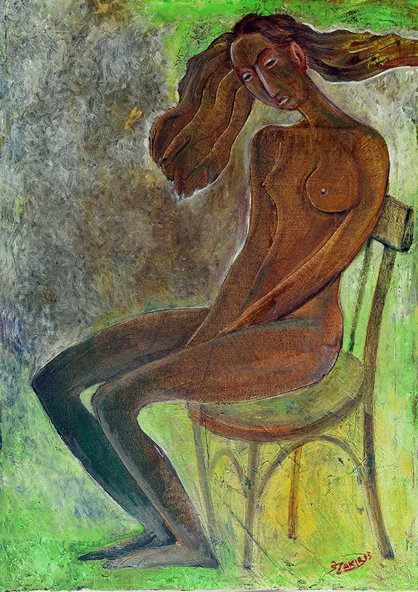 ZAKIR AHMEDOV. Meditation 2013year oil on canvas 50x70 cm3500$ - photo 1
