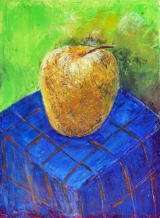 ZAKIR AHMEDOV. APPLE2014year oil on canvas 30X40 cm1500$ - photo 1
