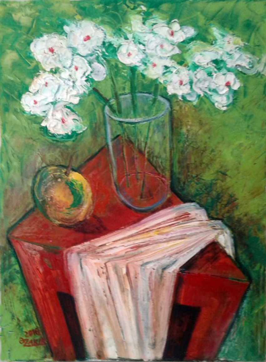ZAKIR AHMEDOV. White Flower 2016year40x30cmOriginal Painting Oil on Canvas 2500$ - photo 1