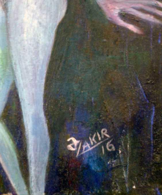 ZAKIR AHMEDOV. .Moonlight Nacht 2016year60x50cm Original-Gemälde Öl auf Leinwand 4000$ - Foto 2