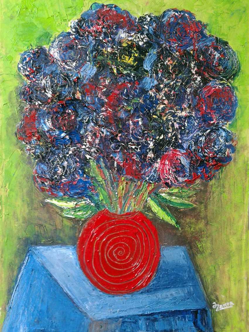 ZAKIR AHMEDOV. Red pitcher2016yea 55X40 cm Original Painting Oil on Canvas 3000$ - photo 1