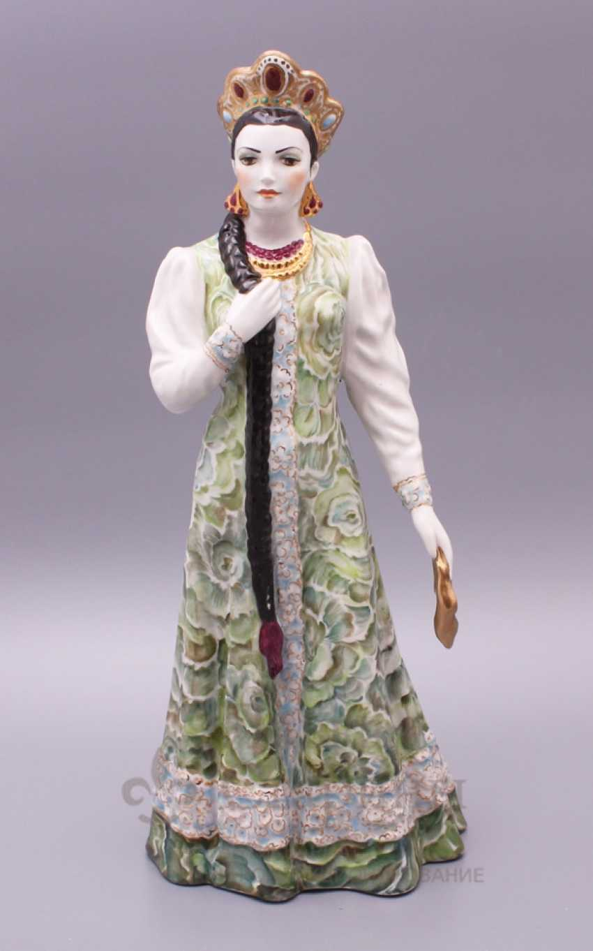 "Figurine ""Mistress of copper mountain"", Dulevo porcelain - photo 1"
