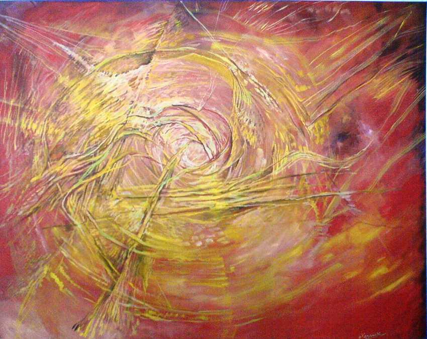 IHAR KHADZIANOK. the fire inside of the loop, the thread of light, - photo 1