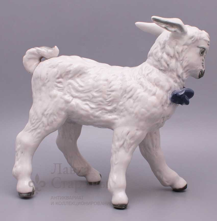 "Figurine of porcelain ""Lamb"", Dulevo plant - photo 2"