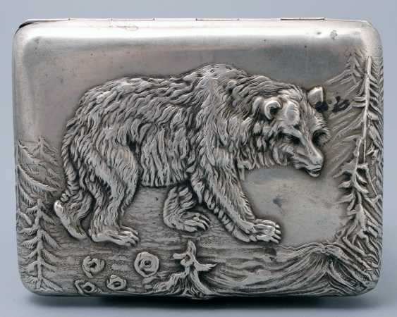 "Soviet cigarette case ""Bear"", silver 875 sample - photo 4"