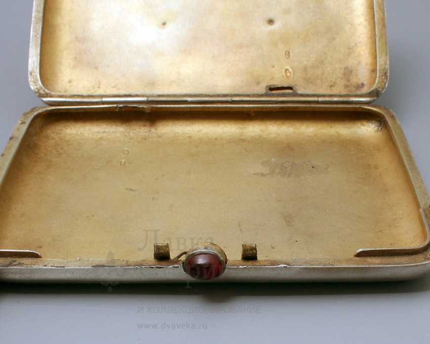 "Soviet silver cigarette case, ""Stalin I. V."", 875 samples - photo 2"