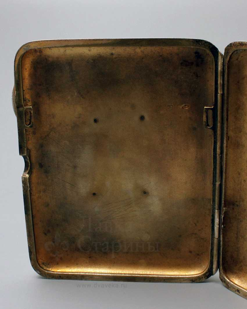 "Soviet silver cigarette case, ""Stalin I. V."", 875 samples - photo 6"