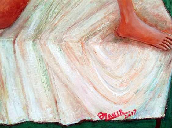 ZAKIR AHMEDOV. Kaffee am morgen 2. Original-Gemälde Öl auf Leinwand Jahr 2017 70 x 90 cm. - Foto 2