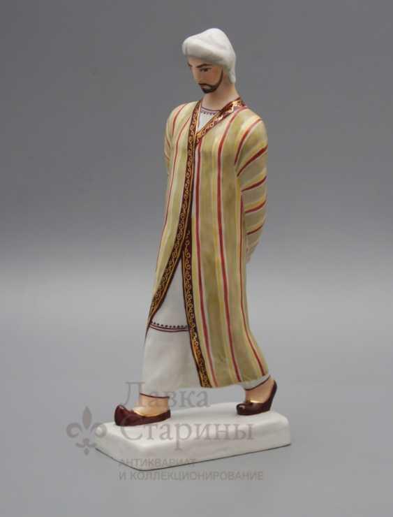 """Soviet porcelain figurine """"Uzbek"""", a sculptor Popov K. V., Verbilki - photo 1"""