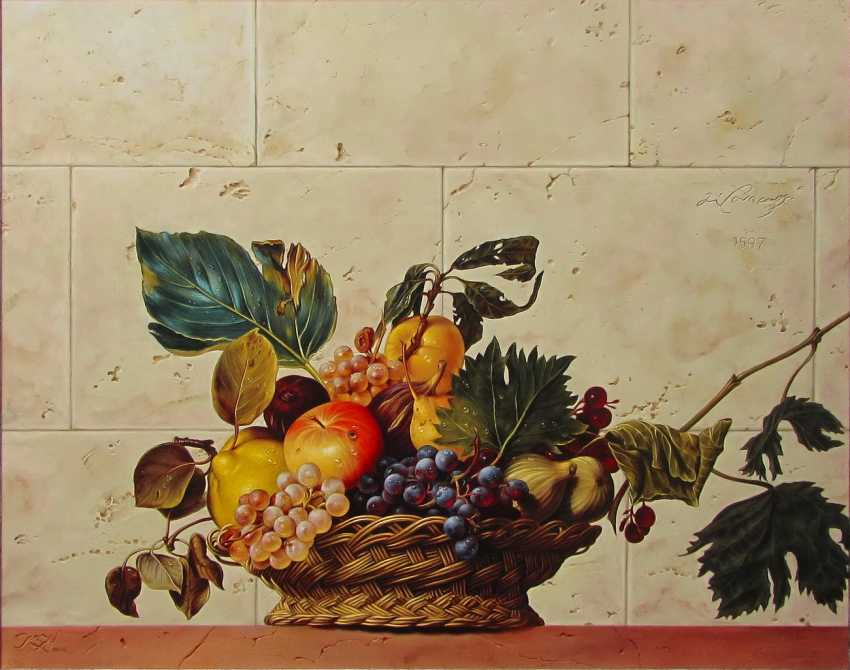 "Sergey Kuzmin. A free copy of the painting, Caravaggio's ""fruit Basket"" - photo 1"