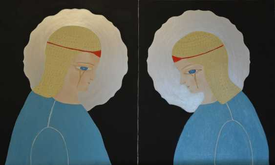 Svetlana Nemontova. The weeping angels, diptych - photo 1
