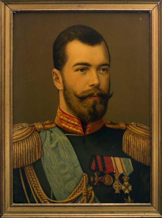 """Antique chromolithograph """"the Emperor Nikolai Alexandrovich Romanov"""" - photo 1"""