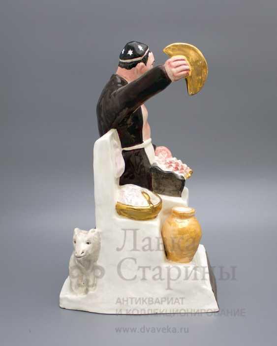 "The sculpture ""Chef–Uzbek"", author frih-har, faience, repeat the 1990-2000s - photo 3"