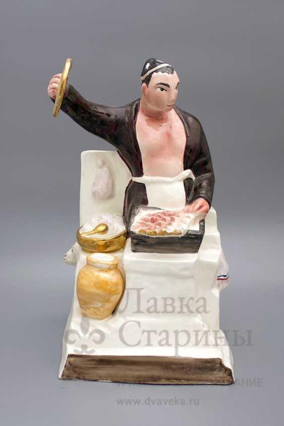 "The sculpture ""Chef–Uzbek"", author frih-har, faience, repeat the 1990-2000s - photo 1"