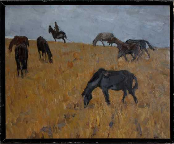 "The painting ""Horses on the stubble"" - photo 1"