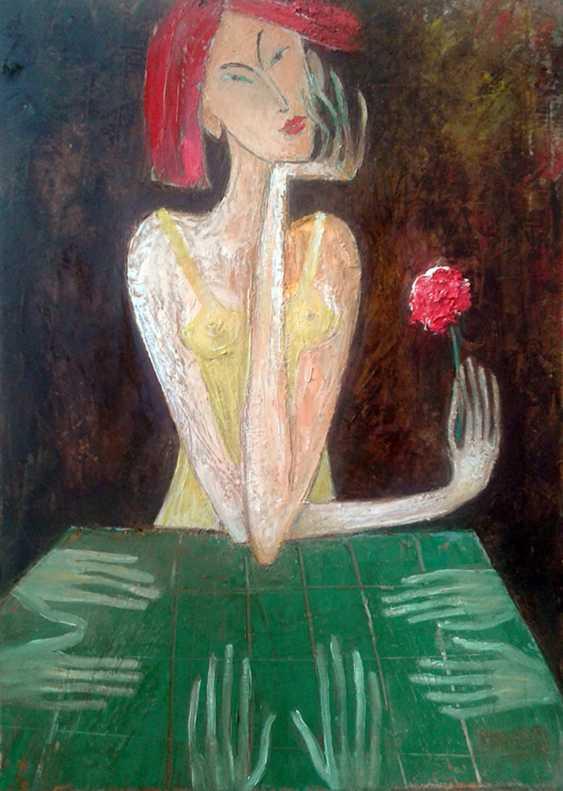 ZAKIR AHMEDOV. Elect..2017year 55x40cmOriginal Painting Oil on Canvas - photo 1