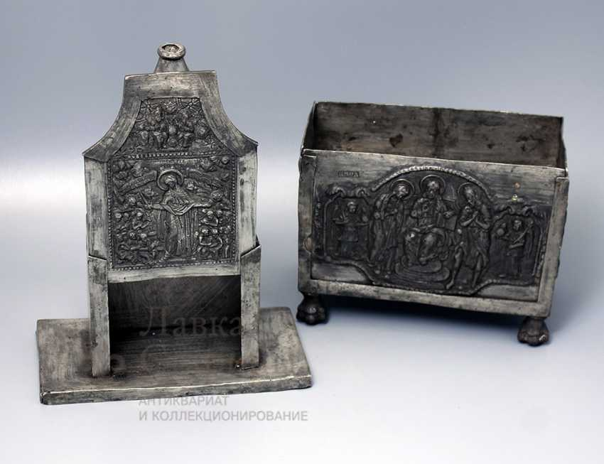 The tabernacle, Russia, presumably 17th-18th centuries, tin - photo 7