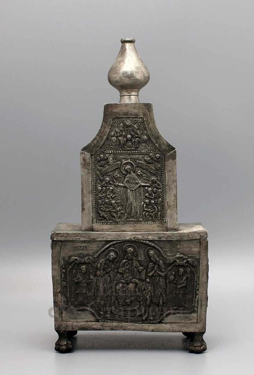 The tabernacle, Russia, presumably 17th-18th centuries, tin - photo 1