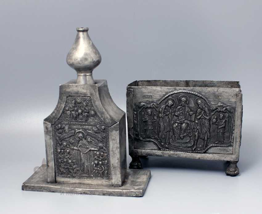 The tabernacle, Russia, presumably 17th-18th centuries, tin - photo 6