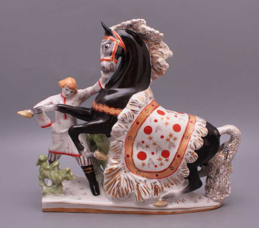 "Set of porcelain figurines of the Soviet Union ""the humpbacked Horse"", Verbilki, sculptor S. M. Orlov - photo 2"