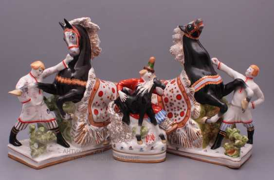 "Set of porcelain figurines of the Soviet Union ""the humpbacked Horse"", Verbilki, sculptor S. M. Orlov - photo 1"
