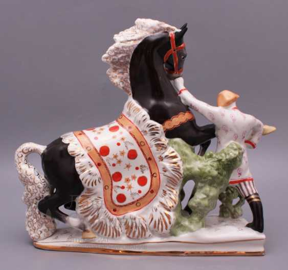 "Set of porcelain figurines of the Soviet Union ""the humpbacked Horse"", Verbilki, sculptor S. M. Orlov - photo 3"