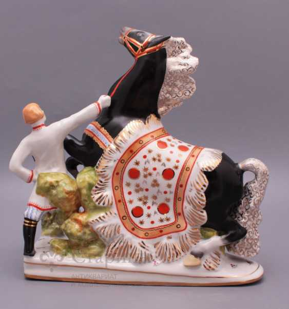 "Set of porcelain figurines of the Soviet Union ""the humpbacked Horse"", Verbilki, sculptor S. M. Orlov - photo 4"