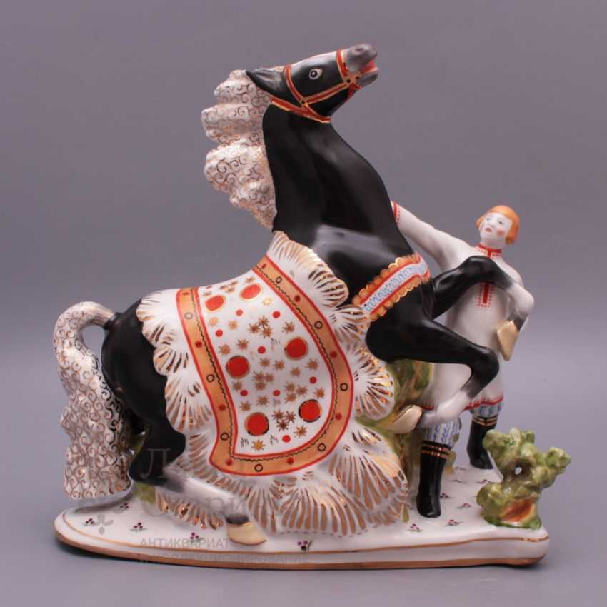 "Set of porcelain figurines of the Soviet Union ""the humpbacked Horse"", Verbilki, sculptor S. M. Orlov - photo 6"