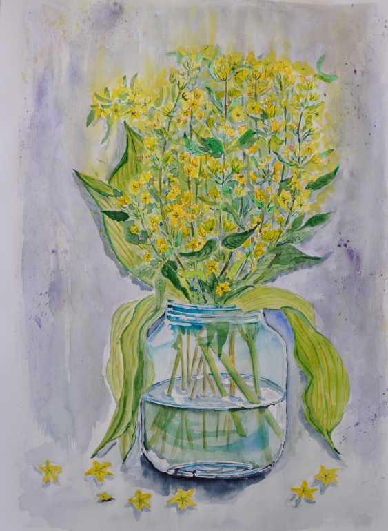 Maryna Pashchenko. A bouquet of wild flowers in a Mason jar. - photo 1