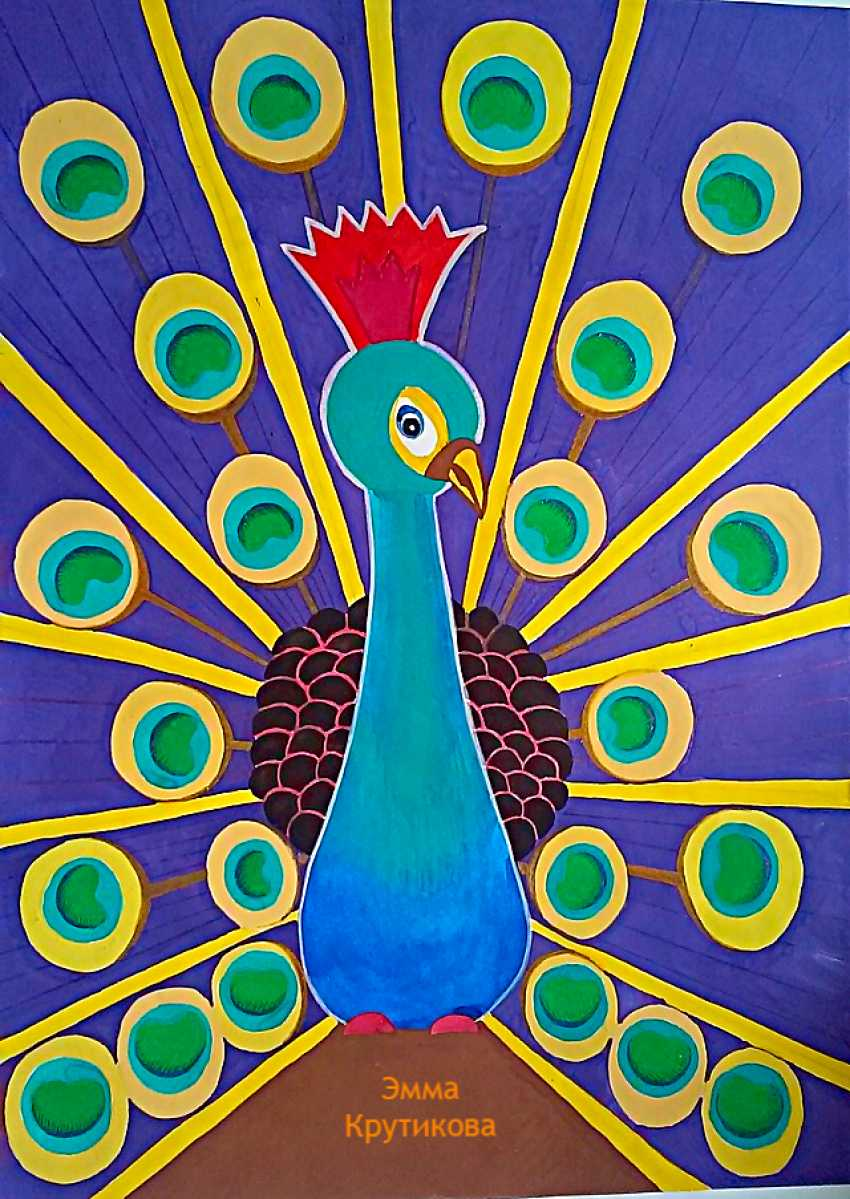 Emma Krutikova. The picture of the Bridegroom (the peacock) . - photo 1