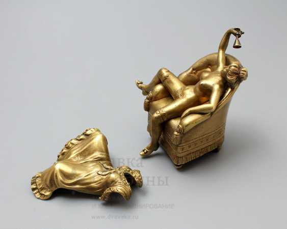 "Antique Vienna bronze figurine ""Lady in chair"", erotic, Europe, early 20th century - photo 2"