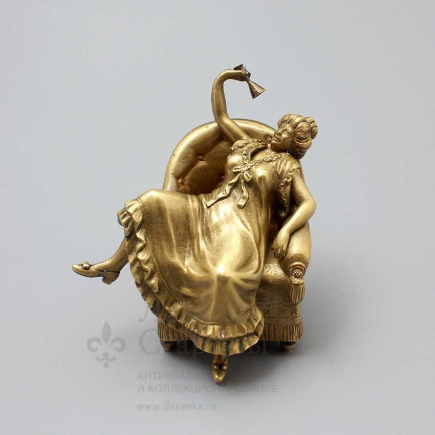 "Antique Vienna bronze figurine ""Lady in chair"", erotic, Europe, early 20th century - photo 1"